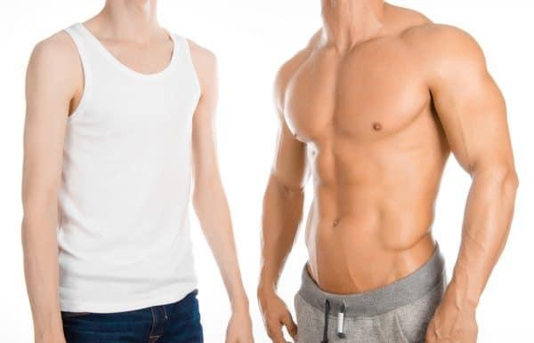 Weak body and Muscular body