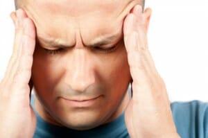 A stressed man