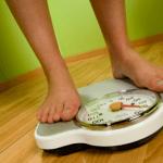 Measuring weight on weight machine