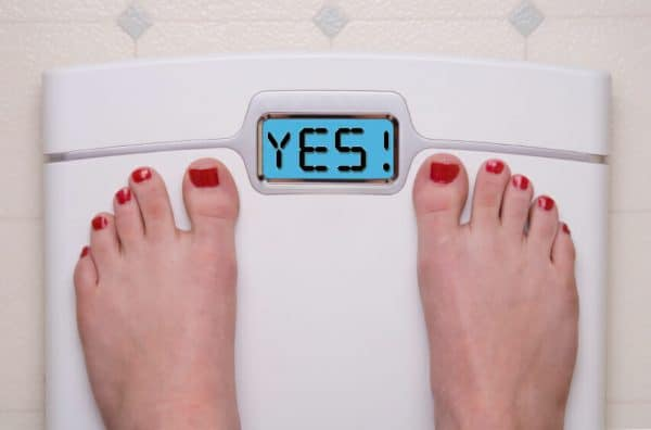 Yes Scale on weight machine