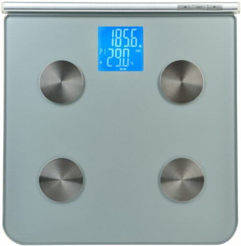 Digital Body Fat Scale and Body Fat Analyzer – Tempered Glass – 8 user auto recognition – Measures Weight, Body Fat, Water, & Bone Mass – (NEW VERSION)