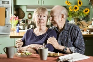 Woman suffering from Alzheimer's