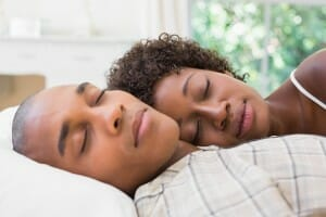 Couple sleeping