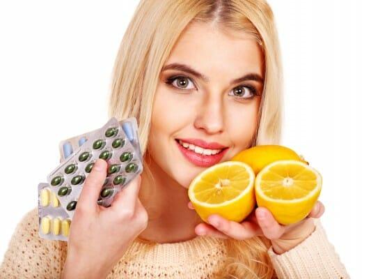 Tablets and lemon