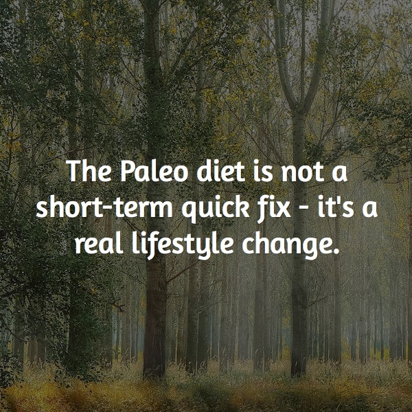 paleo is not short term